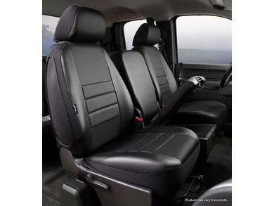 Front Bucket Seats-Leatherette Solid Black FIA SL69-55 BLK Custom Fit Cover