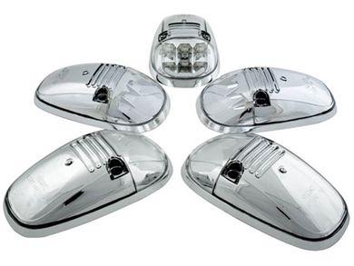 IPCW LEDR-302S Platinum Smoke LED Cab Roof Lights w//Chrome Base for Silverado