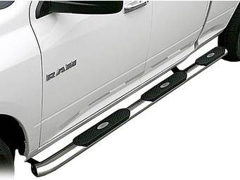 """Aries 4"""" Oval Stainless Wheel to Wheel Nerf Bars"""