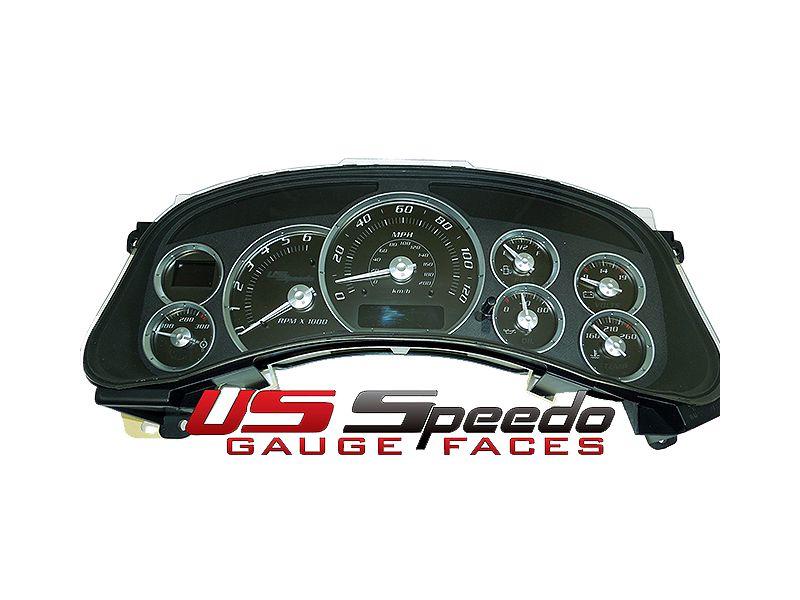 US Speedo Stealth Edition Gauge Face Kits