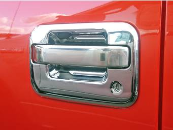 TFP Chrome and Stainless Steel Door Handle Covers