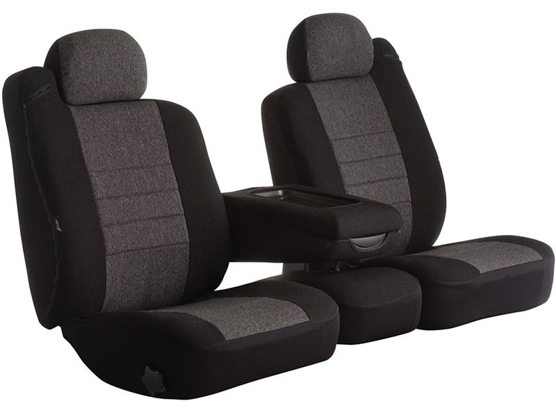 Tweed, Fia OE37-18 GRAY Custom Fit Front Seat Cover Bucket Seats Gray