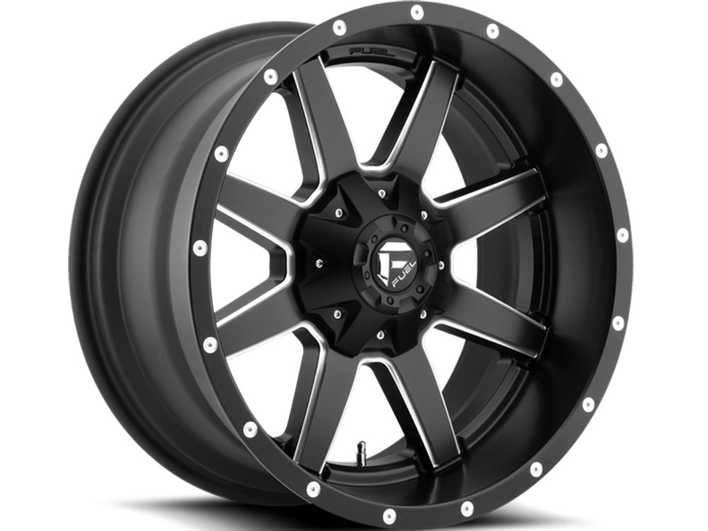 Fuel Truck Wheels >> Fuel Matte Black Maverick Wheels