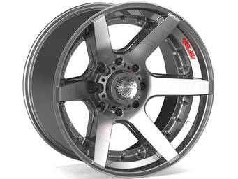 4Play Brushed Gunmetal 4P60 Wheels