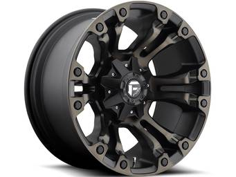 Fuel Machined Black Vapor Wheels
