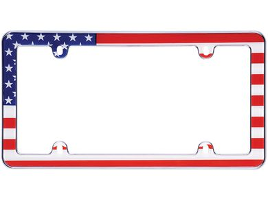 Cruiser Accessories 23001 Boarder License Plate Frame Chrome w//Fastener Caps
