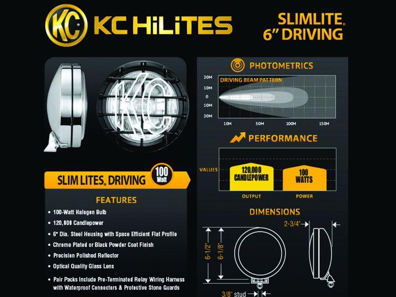 KC HiLiTES Slimlite Halogen Lights | RealTruck on