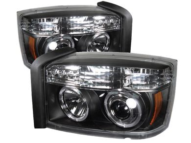 Spyder Black Halo Projector Headlights