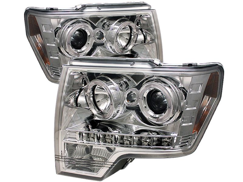 Spyder Chrome Halo Projector Headlights