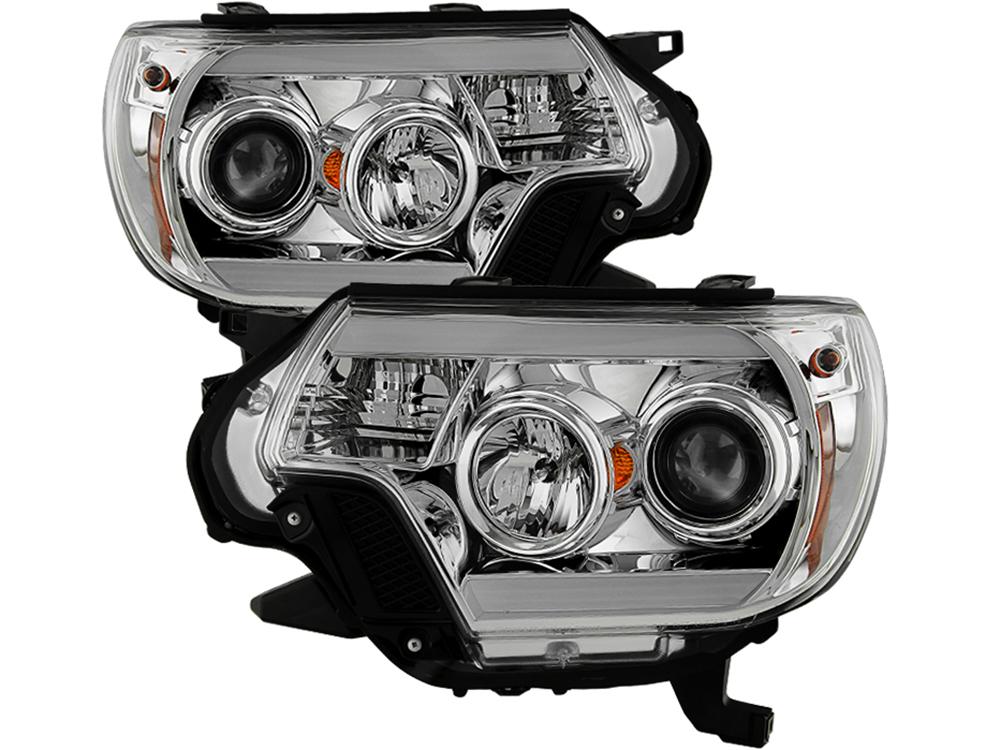 Spyder Chrome DRL Projector Headlights