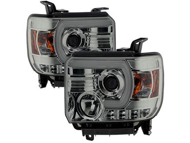 Spyder Smoked Chrome DRL Projector Headlights