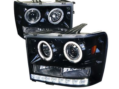 SPEC-D Smoked Black Halo Projector Headlights