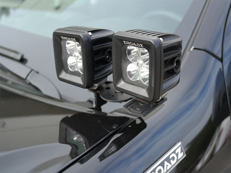 Zroadz Led Hood Hinge Mounts Realtruck