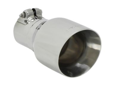 "Flowmaster 15396 Polished Stainless Exhaust Tip 4/"" OD Fits 2.5/"" Pipe Clamp-On"