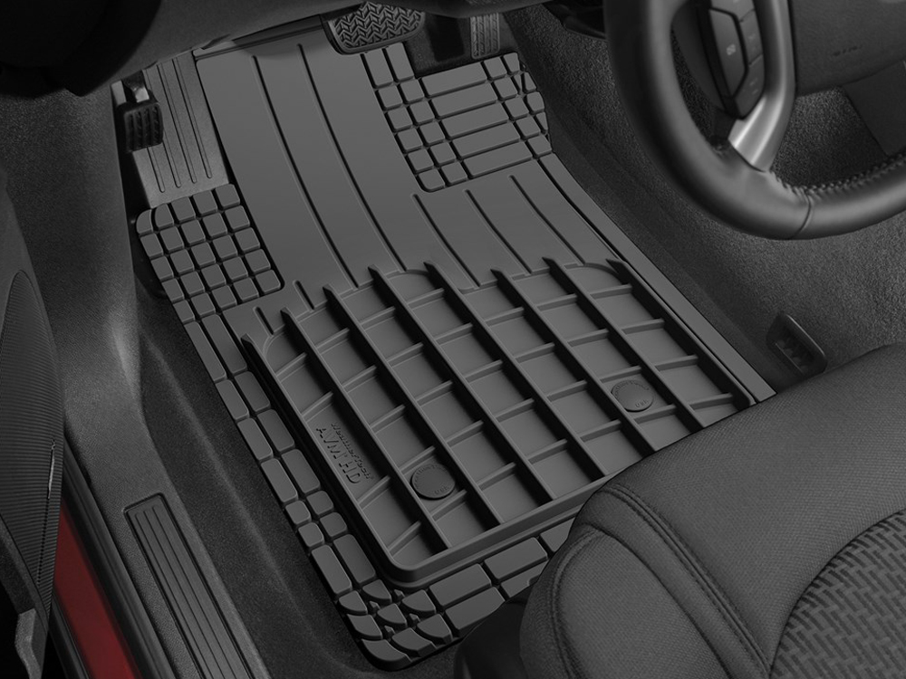Black Coverking Custom Fit Front Floor Mats for Select Suzuki Samurai Models Nylon Carpet