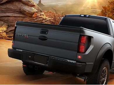 Recon Smoked Black Led Tail Lights