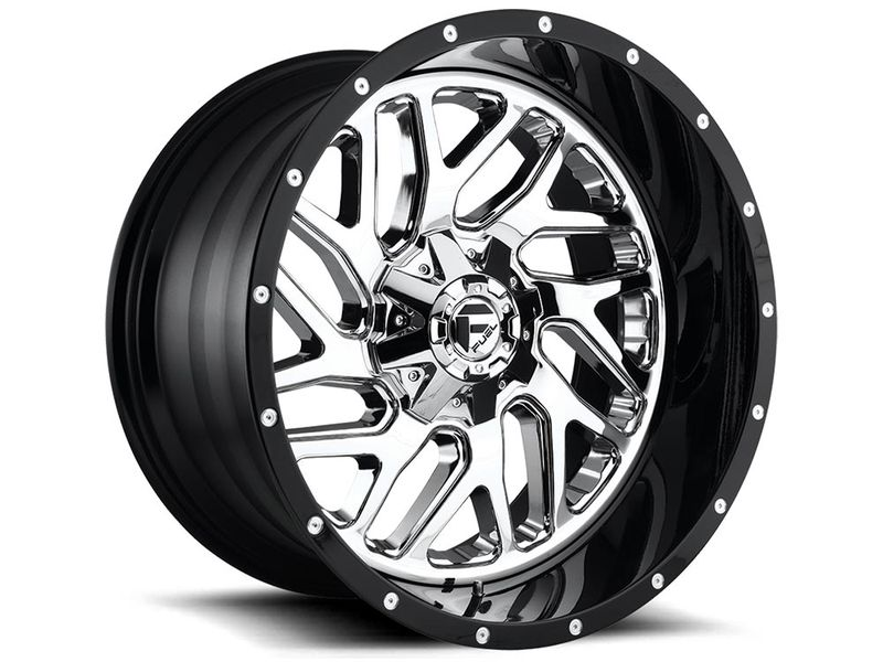 Ful D21120009847 Fuel Two Piece Chrome And Black Triton Wheels