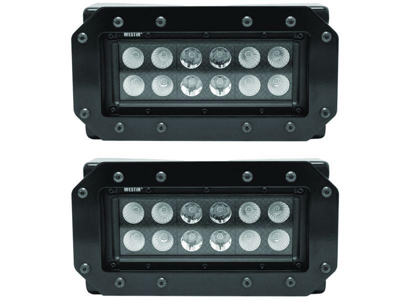 westin hdx b force 6 flush mount led light bars realtruck