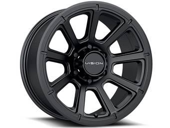 Vision Matte Black Turbine Wheels