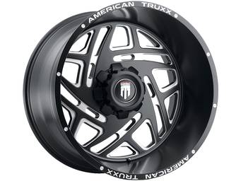 American Truxx Milled Matte Black AT-1904 Cosmos Wheels
