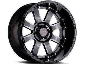 Black Rhino Milled Gloss Black Sierra Wheels