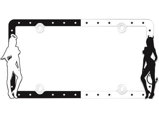 CRUISER ACCESSORIES Hunter Black /& Orange License Plate Frame Kit CRU19656
