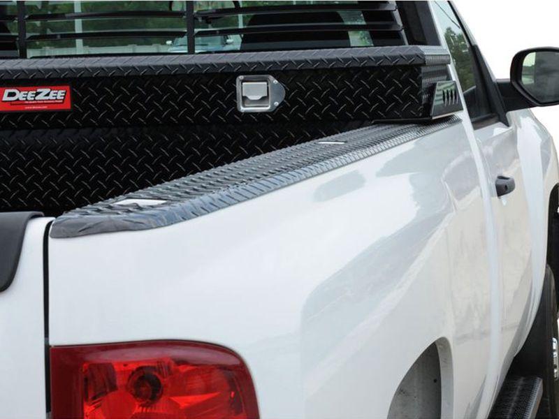 QMI BC8740DP-Bed Rail Caps Compatible with Toyota Tacoma Pickup Short Bed Diamond Treadbright Polished Aluminum Set of 2