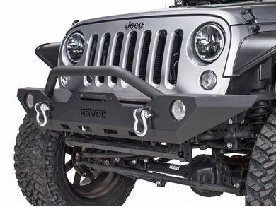 Jeep Wrangler Jk Front Bumper >> Havoc Offroad Gen 2 Wrecking Ball Jk Front Bumper With Light Cutout