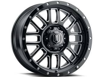 Icon Milled Gloss Black Alpha Wheels