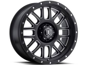 Icon Milled Matte Black Alpha Wheels