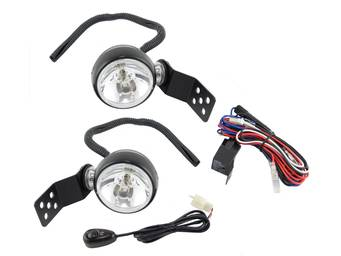 "Rugged Ridge 3"" Hood Latch Mounted Halogen Lights"