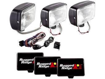 "Rugged Ridge 7"" Rectangular Off-Road Lights"