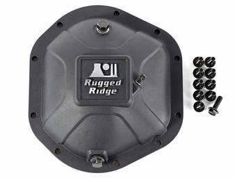 Rugged Ridge Boulder Aluminum Differential Cover 16595.12 01