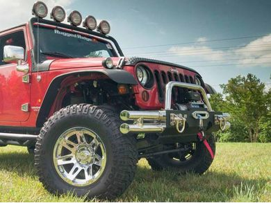 Rugged Ridge 11540.16 Stainless Steel Hoop Over-Rider for Front XHD Bumper Base