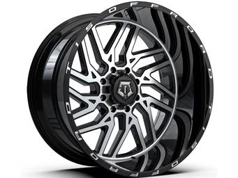 TIS Machined Black 544 Wheels