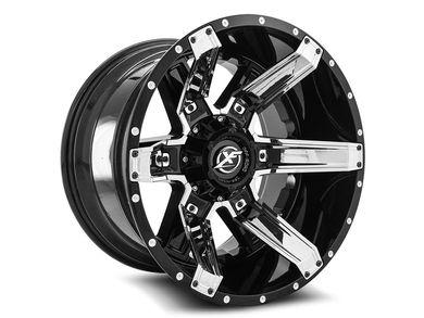 Xf Offroad Gloss Black Chrome Xf 214 Wheels Realtruck